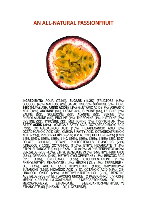 All natural passionfruit